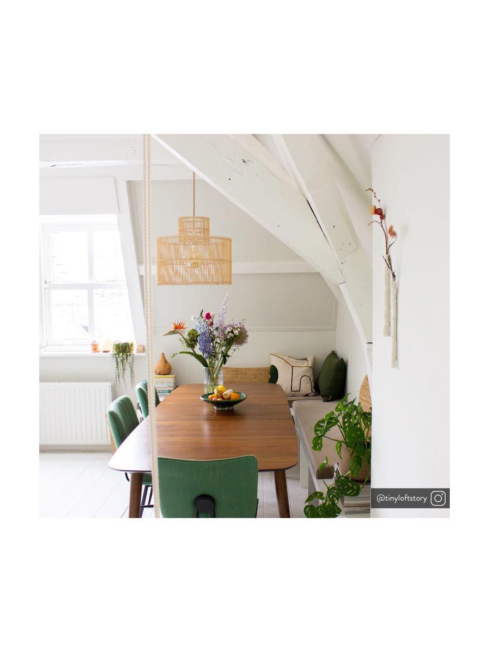 Uitschuifbare eettafel Cirrus, Tafelblad: MDF (Medium-density fibre, Poten: gelakt eikenhout, Mat eikenhoutkleurig, B 190-235 x D 90 cm