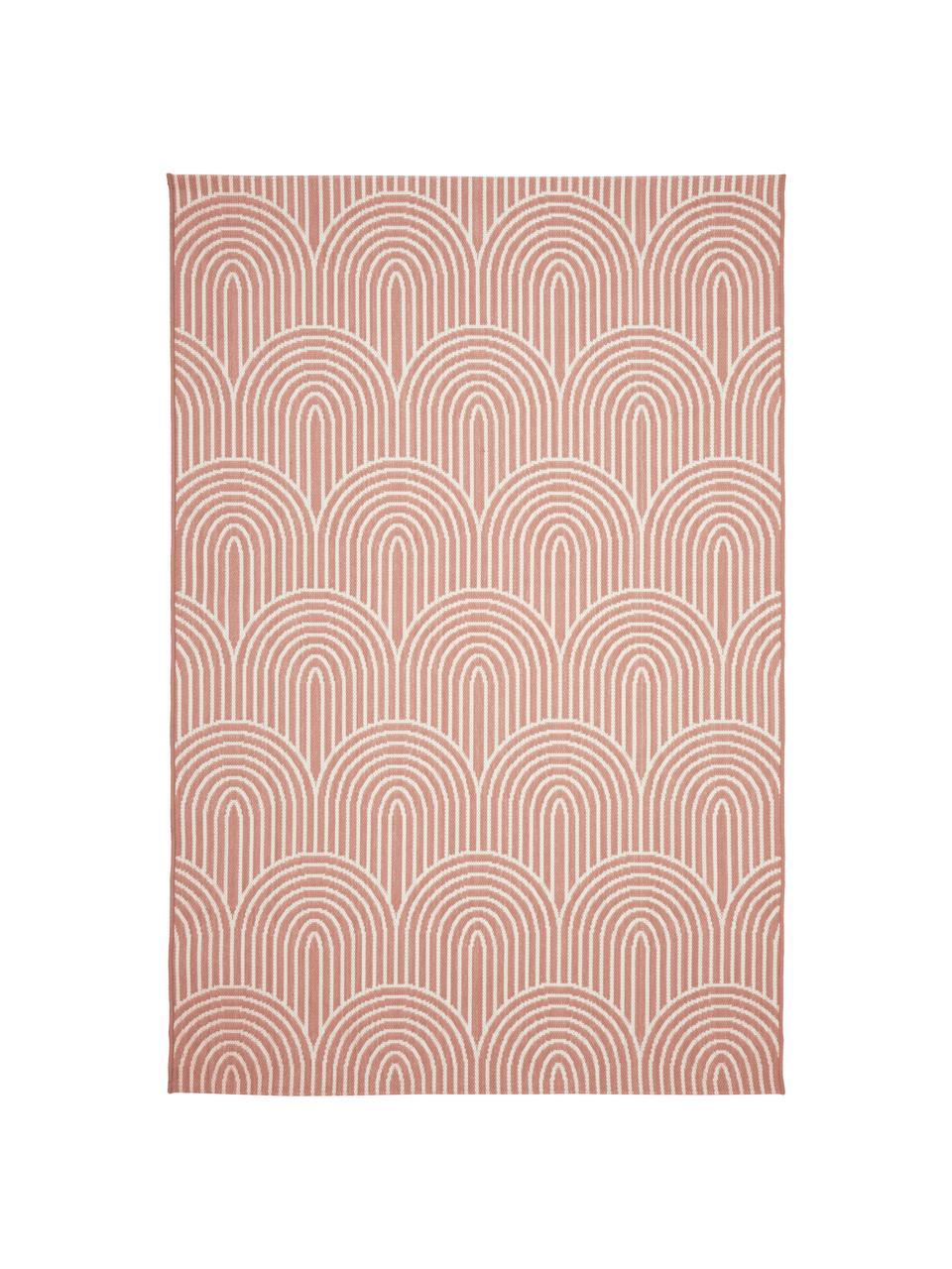 In- & Outdoorteppich Arches in Koralle/Cremeweiß, 86% Polypropylen, 14% Polyester, Rot, Weiß, B 200 x L 290 cm (Größe L)