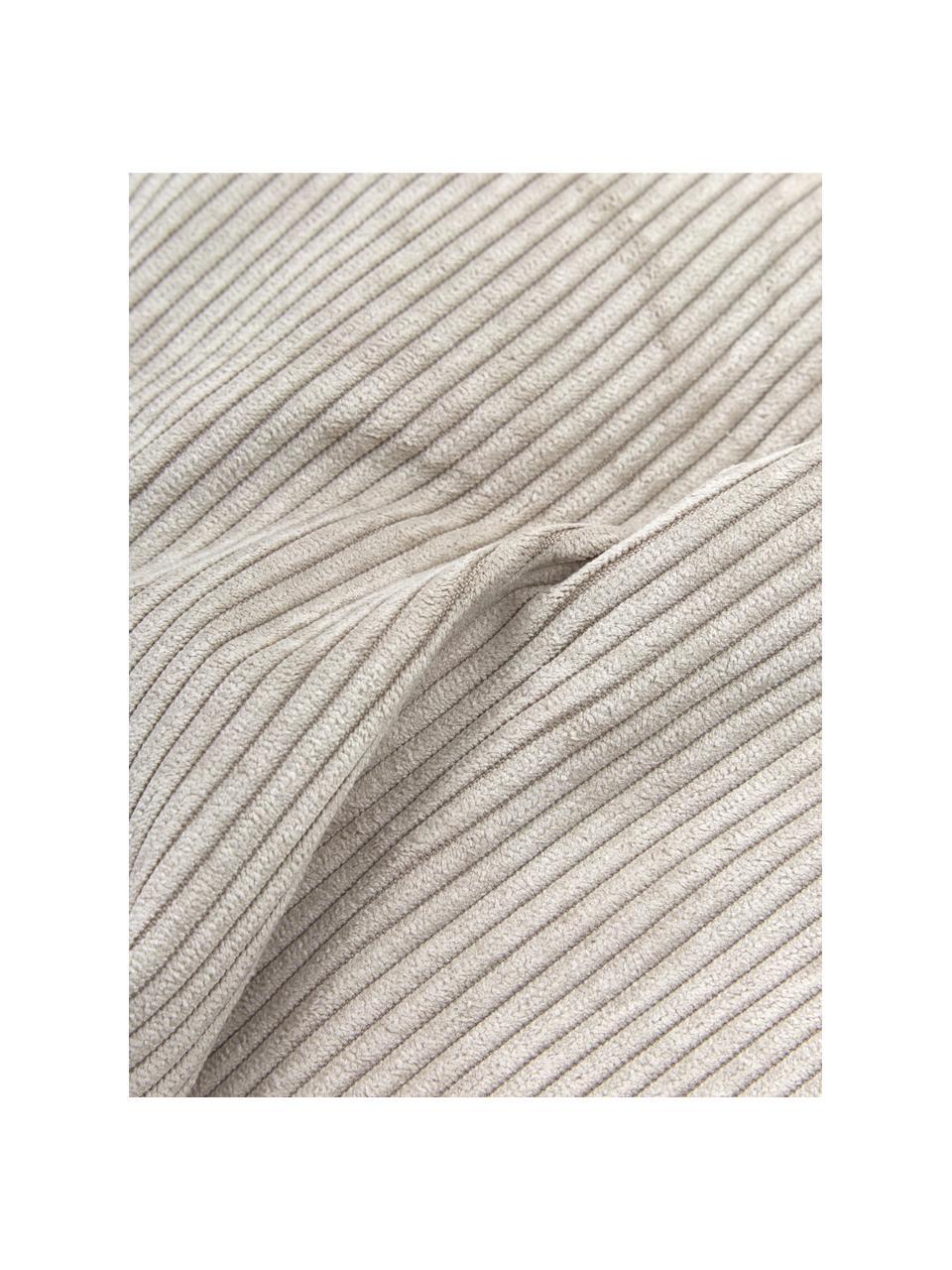 Sofa-Kissen Lennon in Beige aus Cord, Bezug: Cord (92% Polyester, 8% P, Cord Beige, 60 x 60 cm