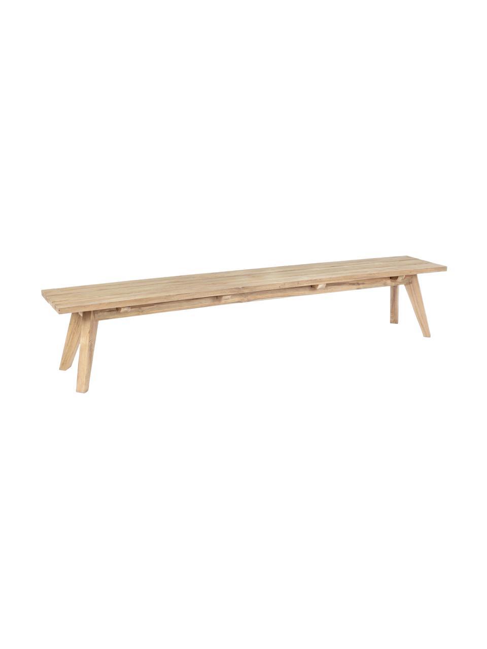 Ławka ogrodowa Kendari, Surowe drewno tekowe z recyklingu Posiada certyfikat FSC, Drewno tekowe, S 240 x W 45 cm
