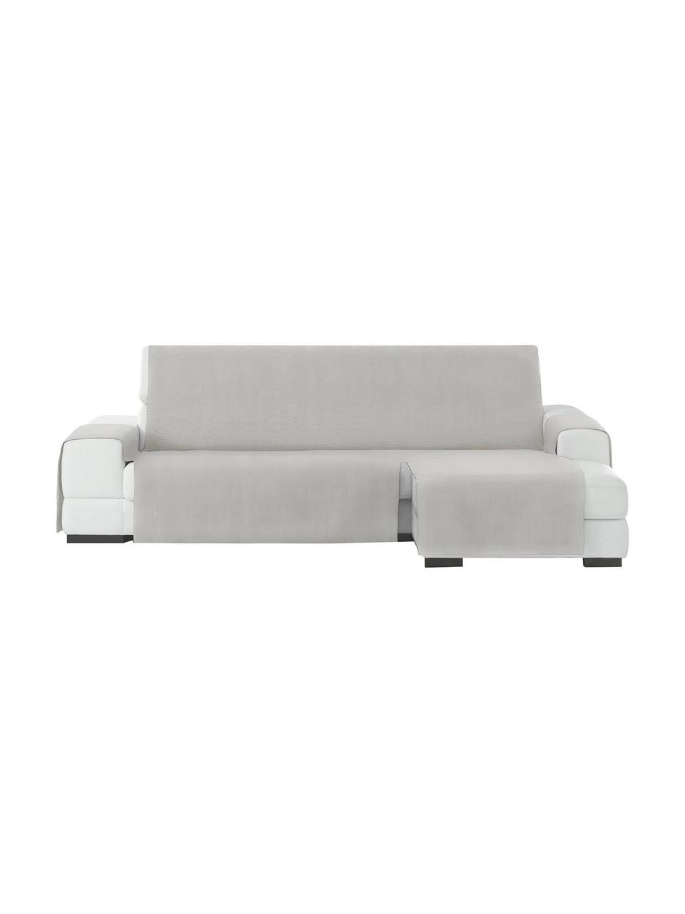 Copertura divano angolare Levante, 65% cotone, 35% poliestere, Verde grigio, Larg. 150 x Lung. 240 cm