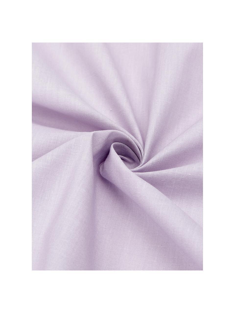 Gewaschene Baumwoll-Kopfkissenbezüge Arlene in Lavendel, 2 Stück, Webart: Renforcé Fadendichte 144 , Lila, 40 x 80 cm