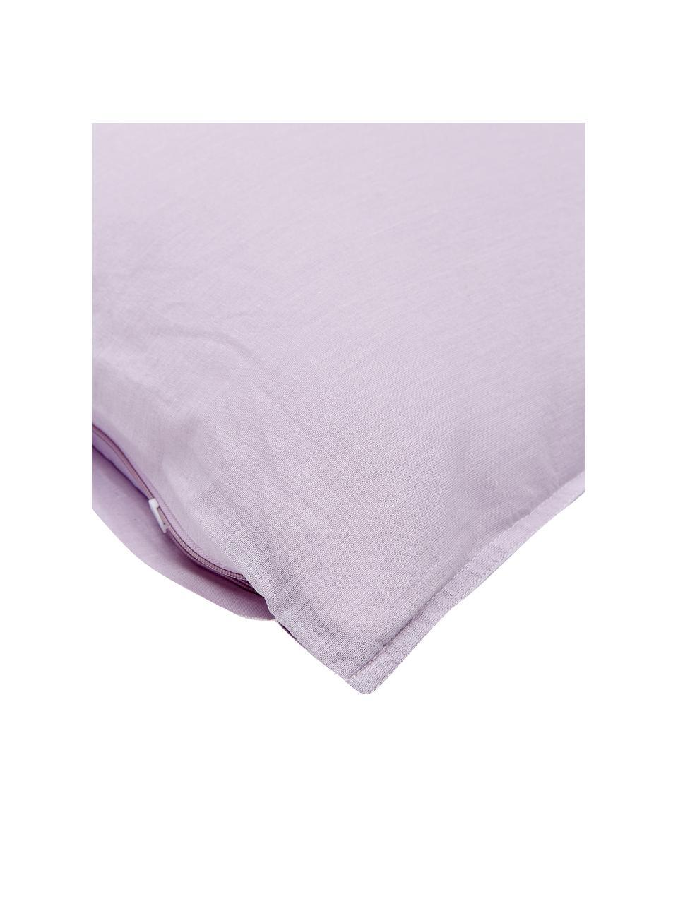 Poszewka na poduszkę z bawełny Arlene, 2 szt., Lila, S 40 x D 80 cm