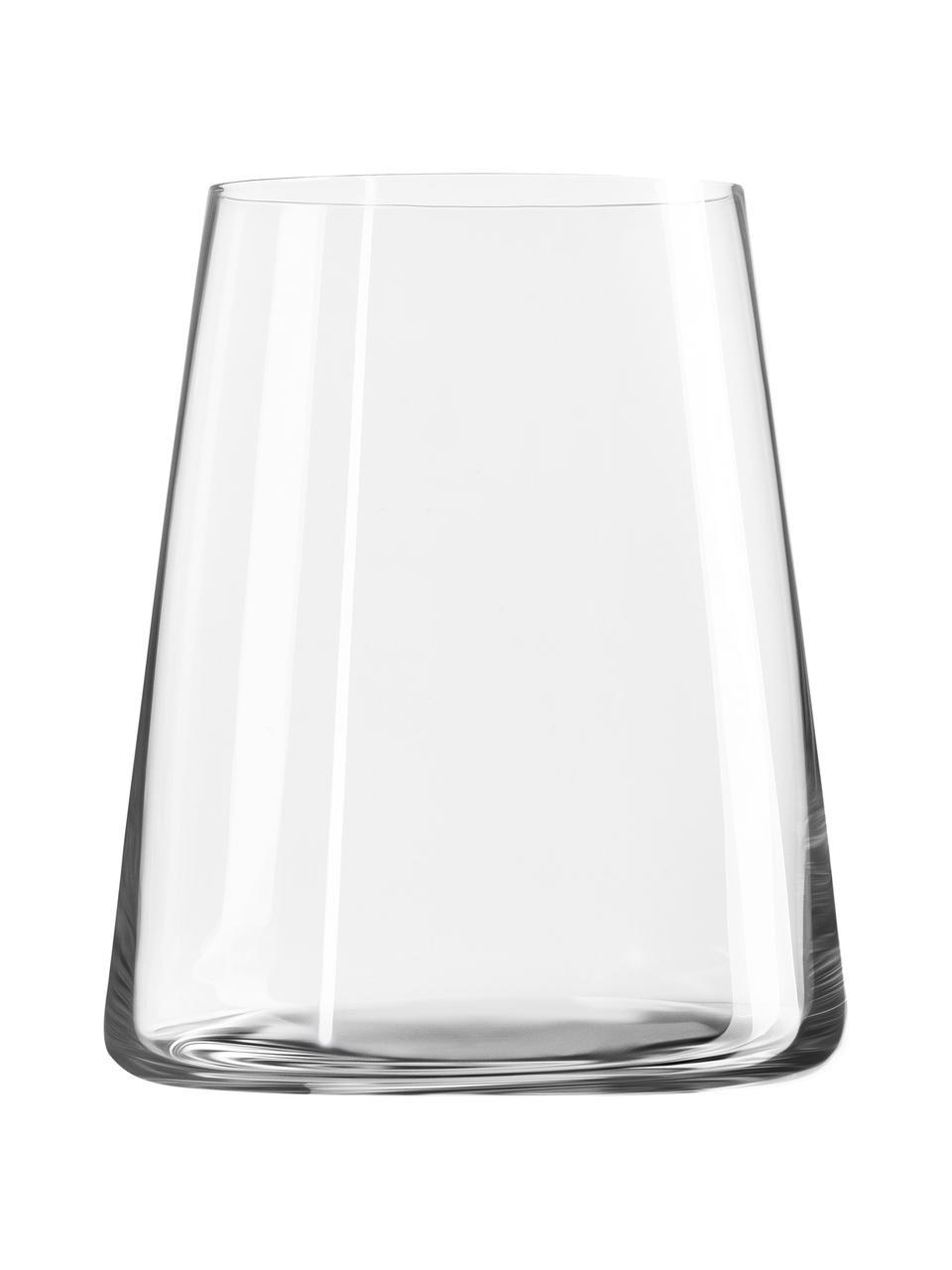 Szklanka ze szkła kryształowego Power, 6 szt., Szkło kryształowe, Transparentny, Ø 9 x W 10 cm