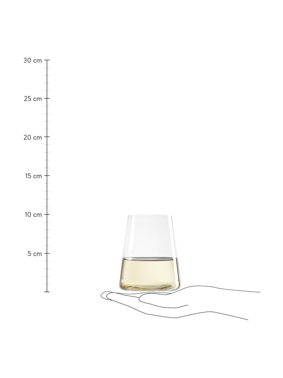 Bicchiere in cristallo a forma di cono Power 6 pz, Cristallo, Trasparente, Ø 9 x Alt. 10 cm
