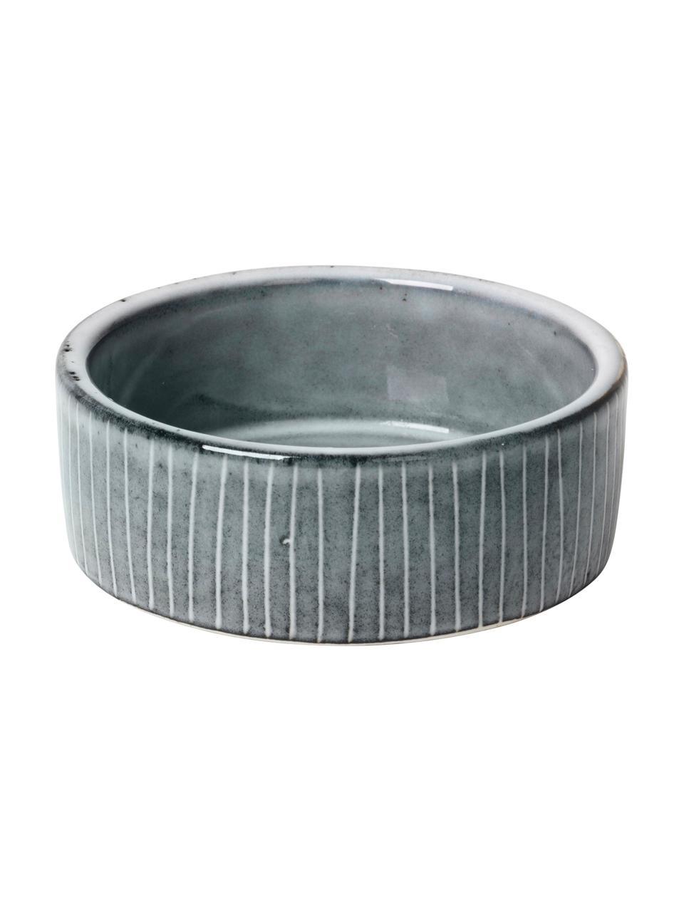 Coupelle dip en grès faite main Nordic Sea Ø8cm, 4pièces, Tons gris et bleus