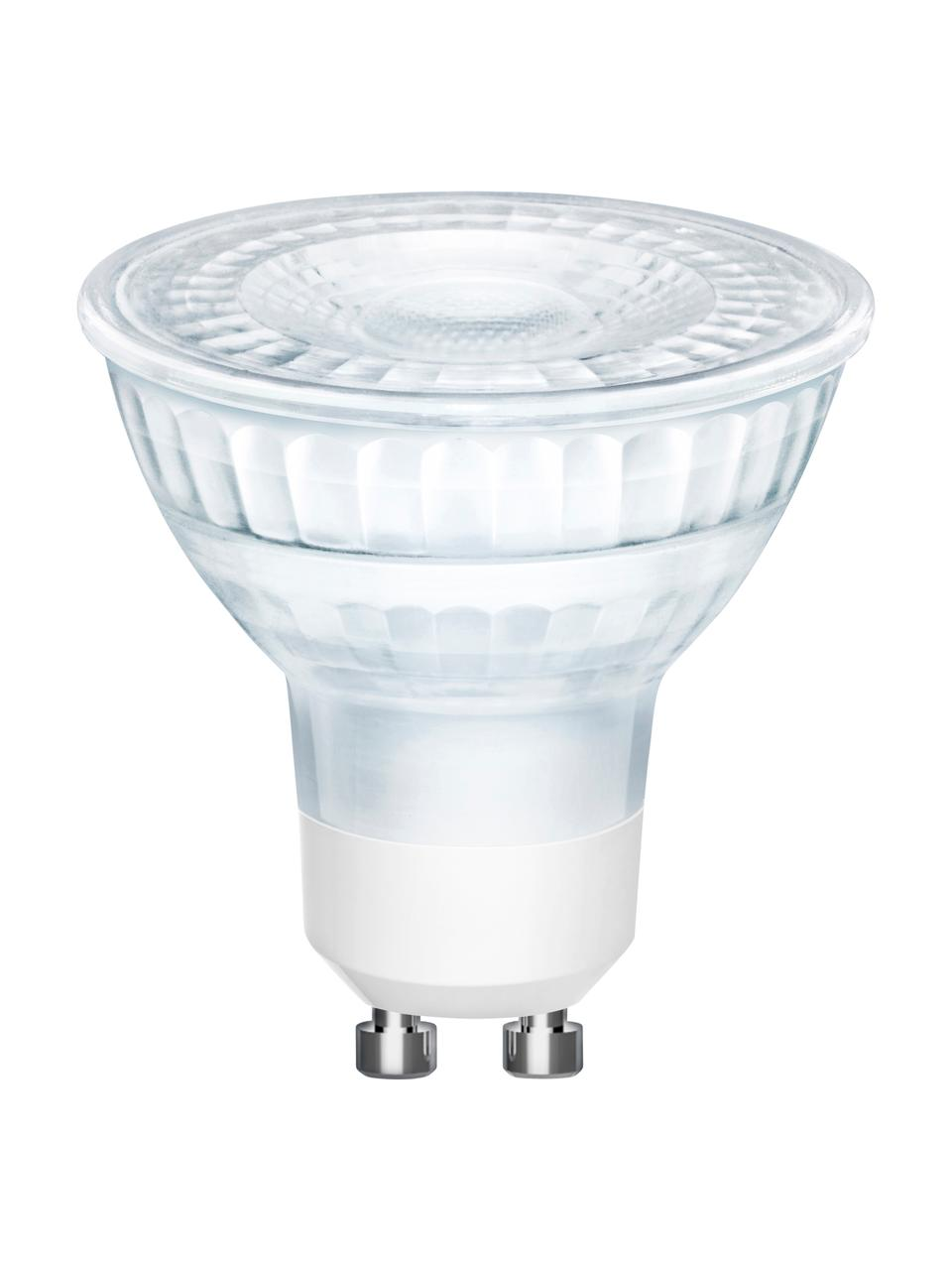 GU10 Leuchtmittel, 5W, dimmbar, warmweiß, 3 Stück, Leuchtmittelschirm: Glas, Leuchtmittelfassung: Aluminium, Transparent, Ø 5 x H 6 cm