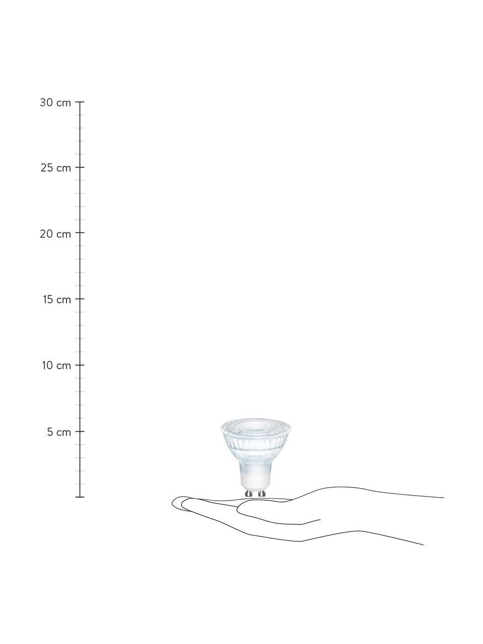 Żarówka z funkcją przyciemniania GU10/5W, ciepła biel, 3 szt., Transparentny, Ø 5 x W 6 cm