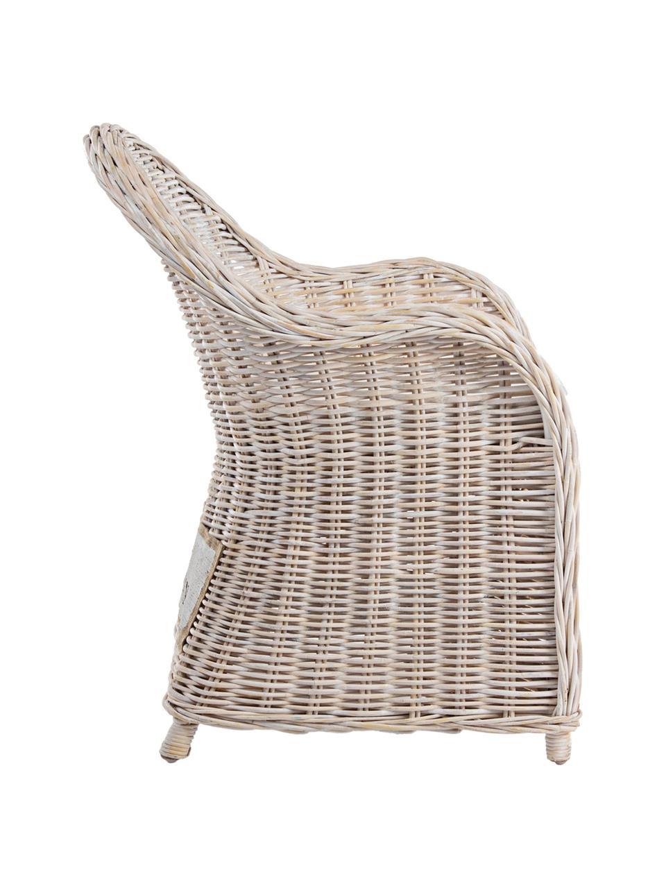 Ratanová židle spodručkami a podsedákem Martin, Ratan, bílá