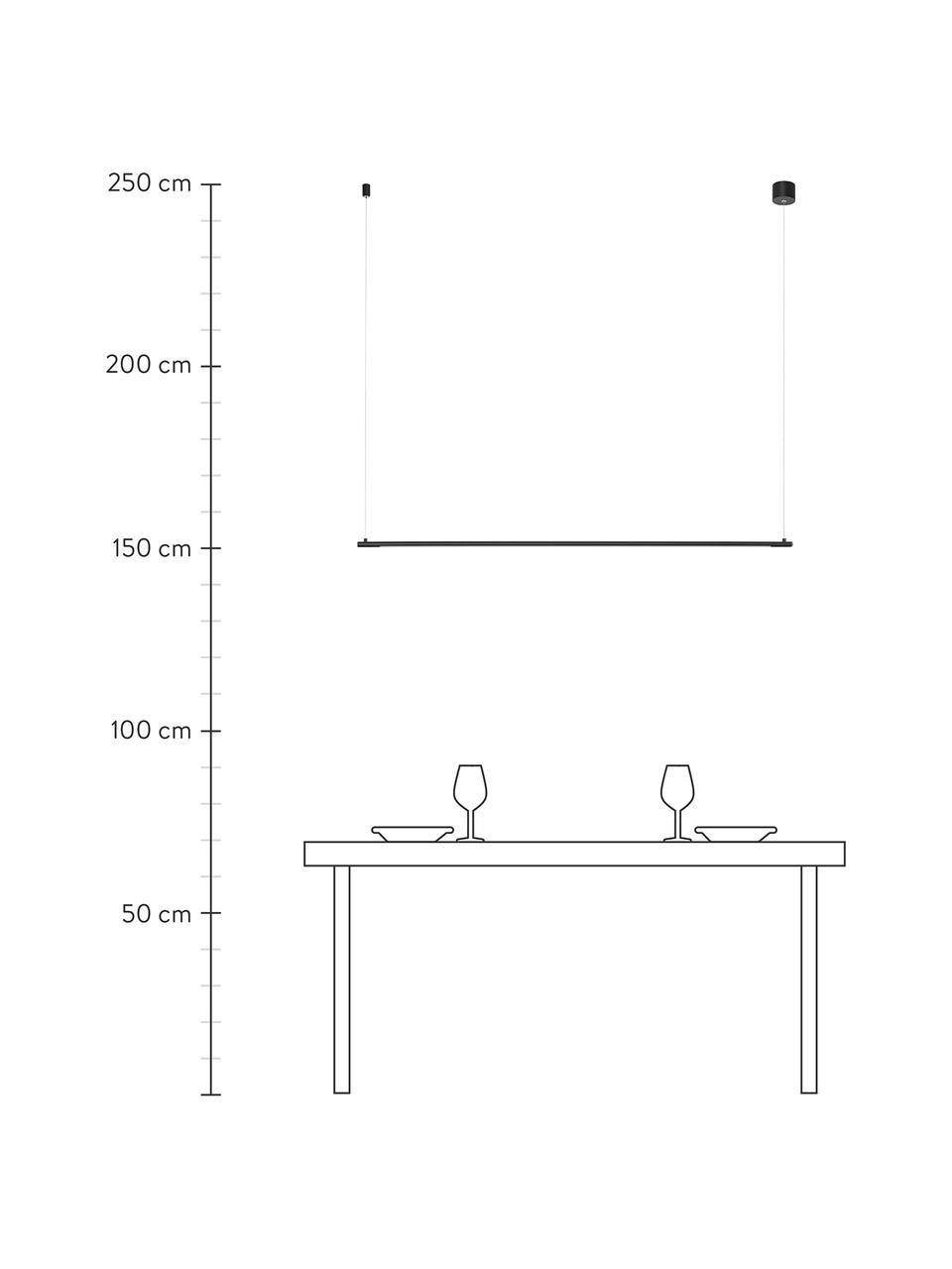 Lampada a sospensione a LED Elettra, Paralume: alluminio, Baldacchino: alluminio, Nero, Larg. 120 x Alt. 2 cm