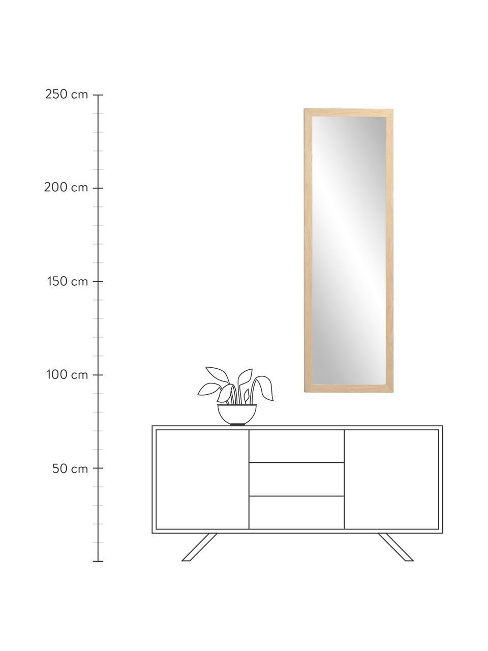 Wandspiegel Wilany mit Holzrahmen, Rahmen: Holz, Spiegelfläche: Spiegelglas, Beige, 53 x 153 cm