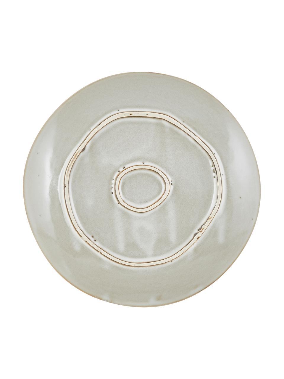 Platos postre artesanales de gres Thalia, 2uds., Gres, Beige, Ø 22 cm