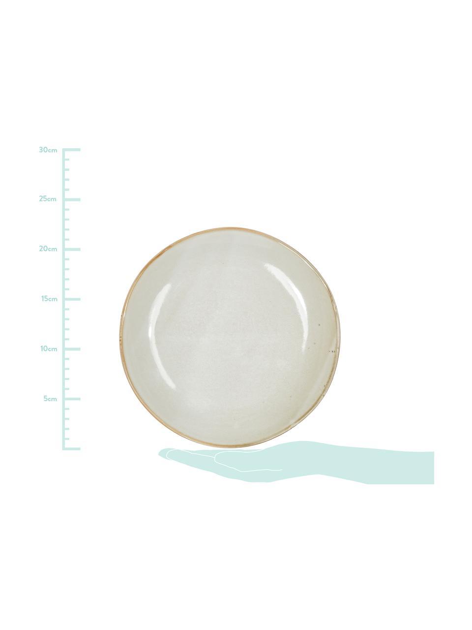 Handgemachte Steingut-Frühstücksteller Thalia in Beige, 2 Stück, Steingut, Beige, Ø 22 cm