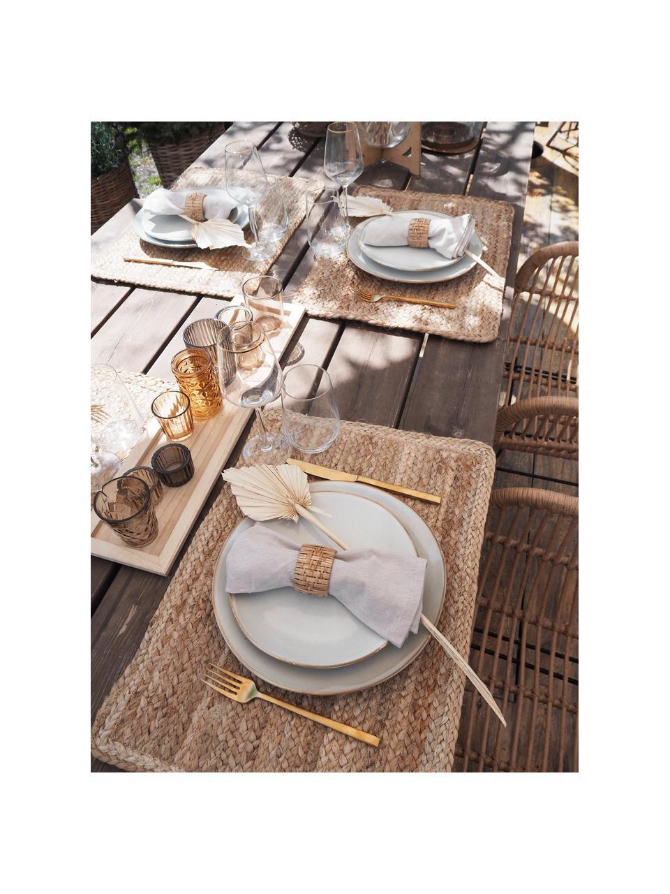 Set van 2 handgemaakte keramische ontbijtborden Thalia in beige, Keramiek, Beige, Ø 22 cm