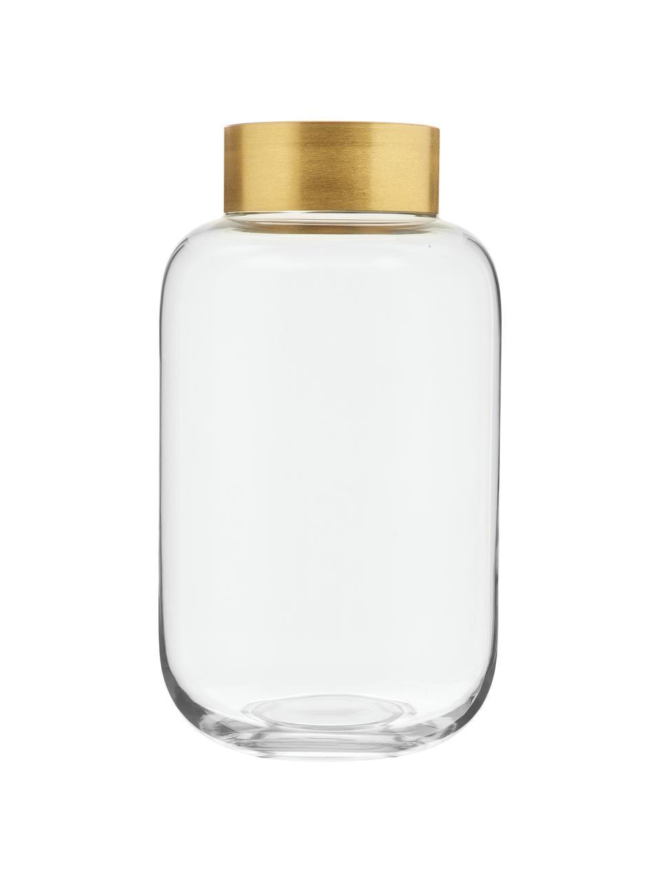 Wazon Lori, Wazon: transparentny Szyjka: odcienie złotego, matowy, Ø 16 x W 29 cm