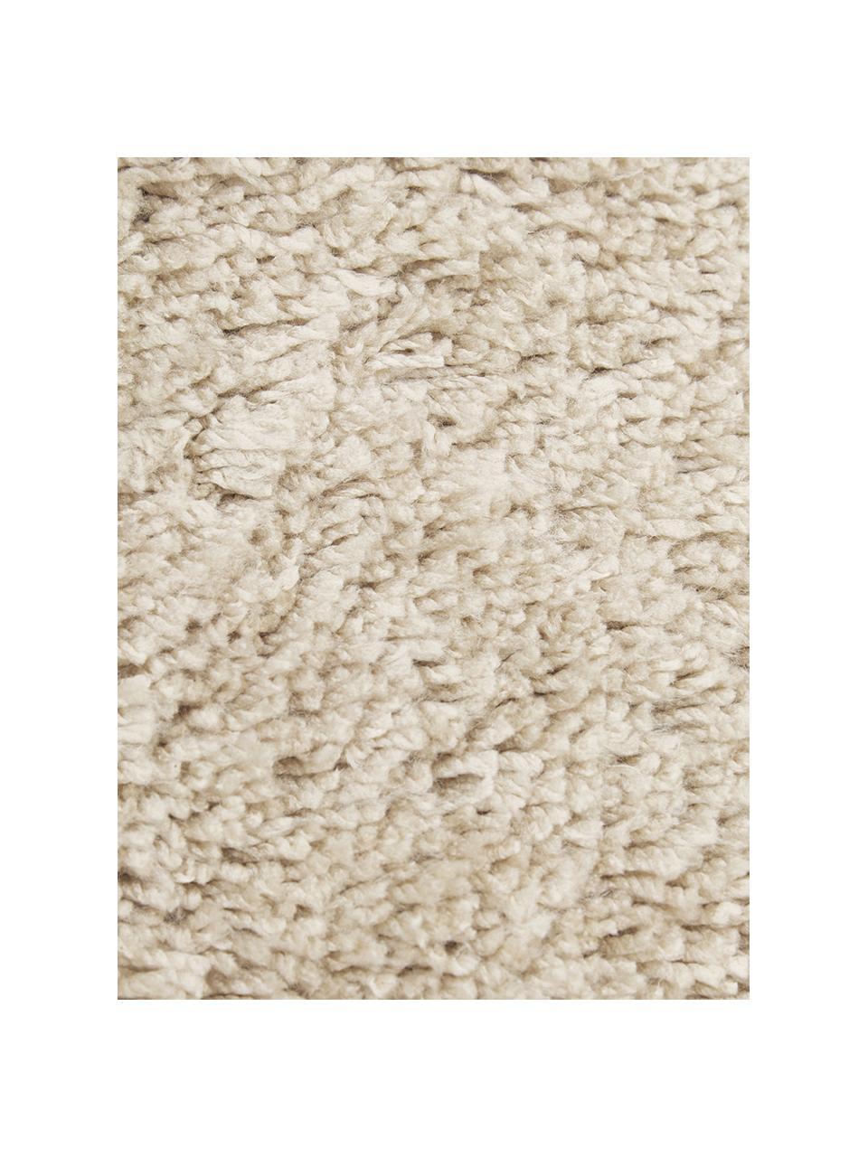 Okrągły puszysty dywan z wysokim stosem z frędzlami Dreamy, Kremowy, Ø 200 cm (Rozmiar L)