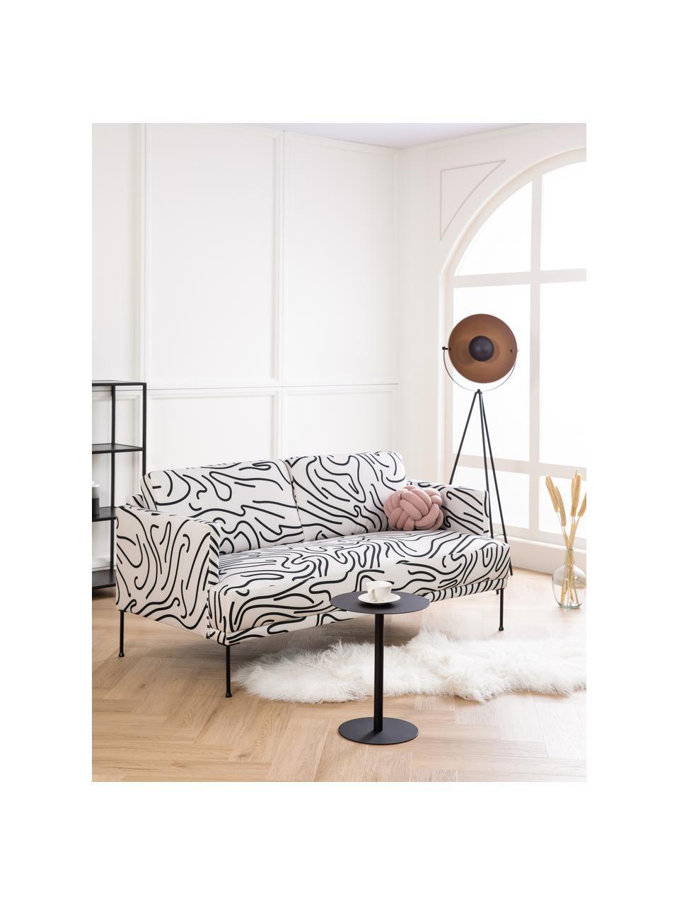 Sofa Fluente (2-osobowa), Tapicerka: 100% poliester Dzięki tka, Nogi: metal malowany proszkowo, Biały, S 166 x G 85 cm