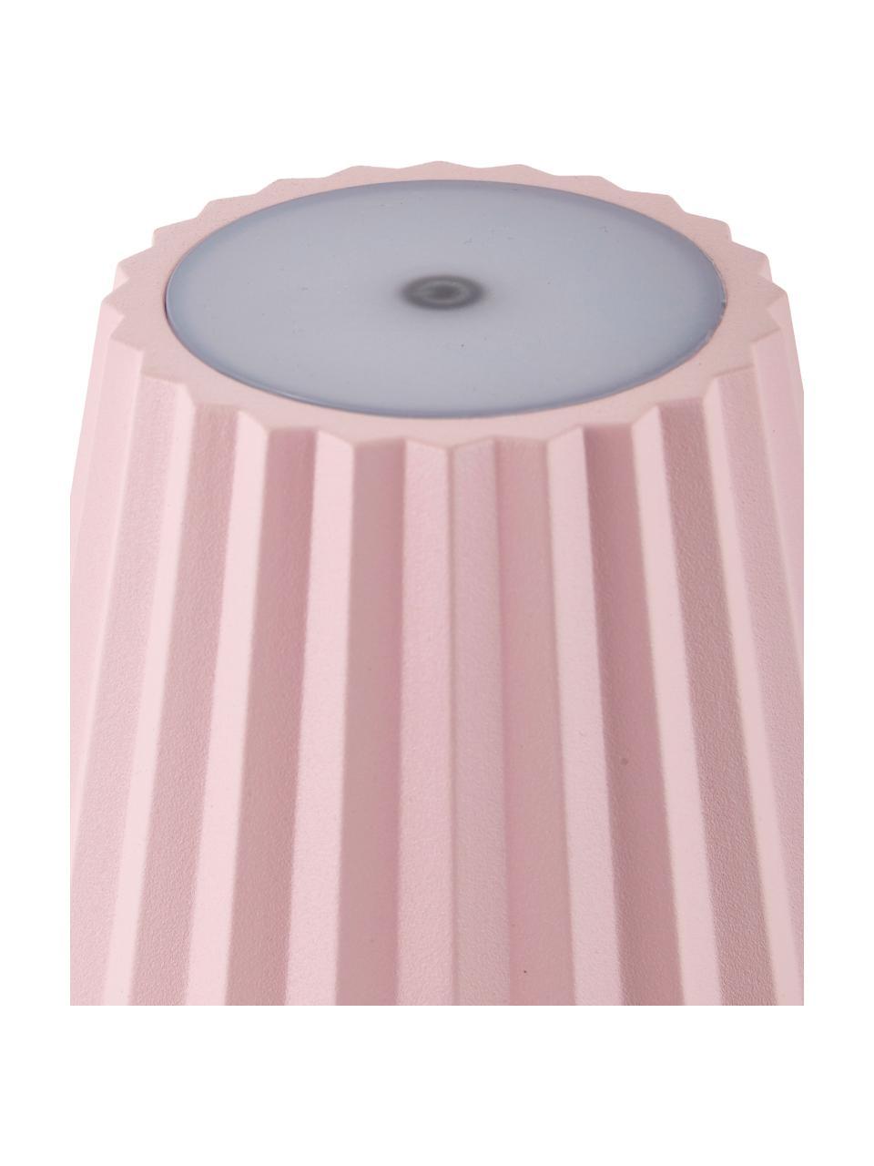 Mobile Dimmbare Außentischlampe Trellia, Aluminium, lackiert, Pink, Ø 15 x H 38 cm