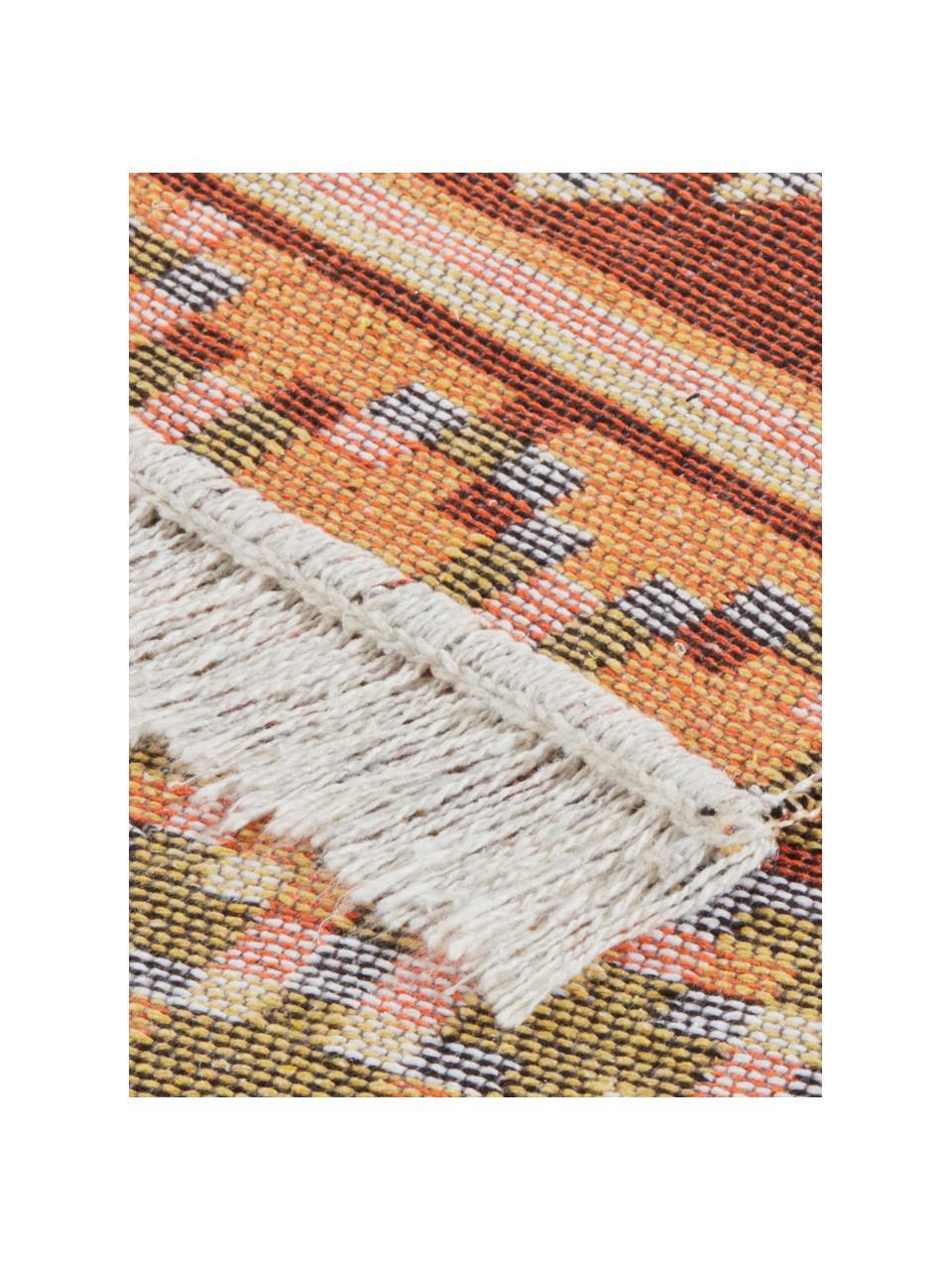 Kelimteppich Kaveri im Ethno-Style aus Baumwolle, 100% Baumwolle, Beige, Mehrfarbig, B 160 x L 220 cm (Größe M)