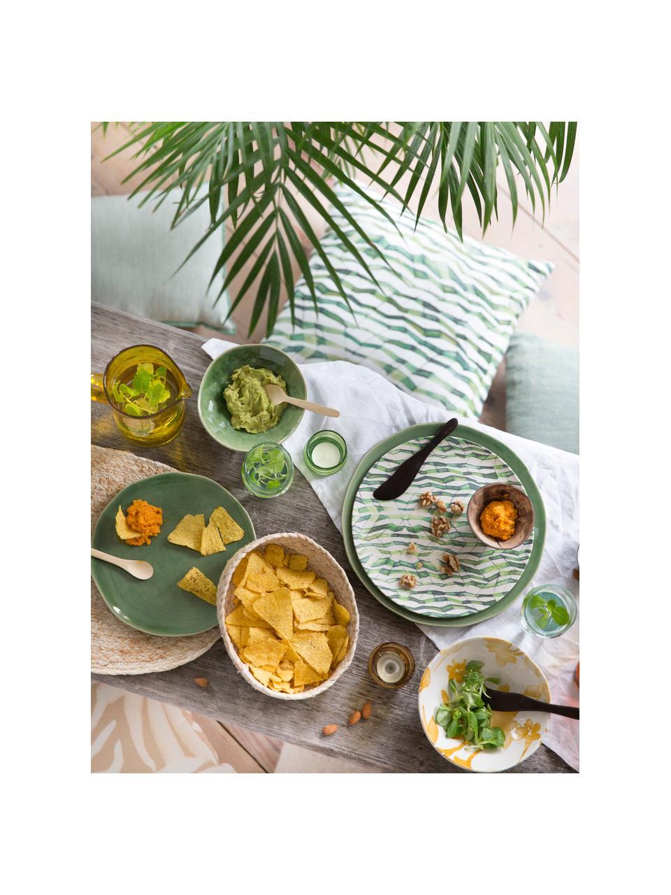 Handgemaakte broodmandjes set Corn, 2-delig., Maïsbladen, gevlochten, Lichtbeige, Set met verschillende formaten