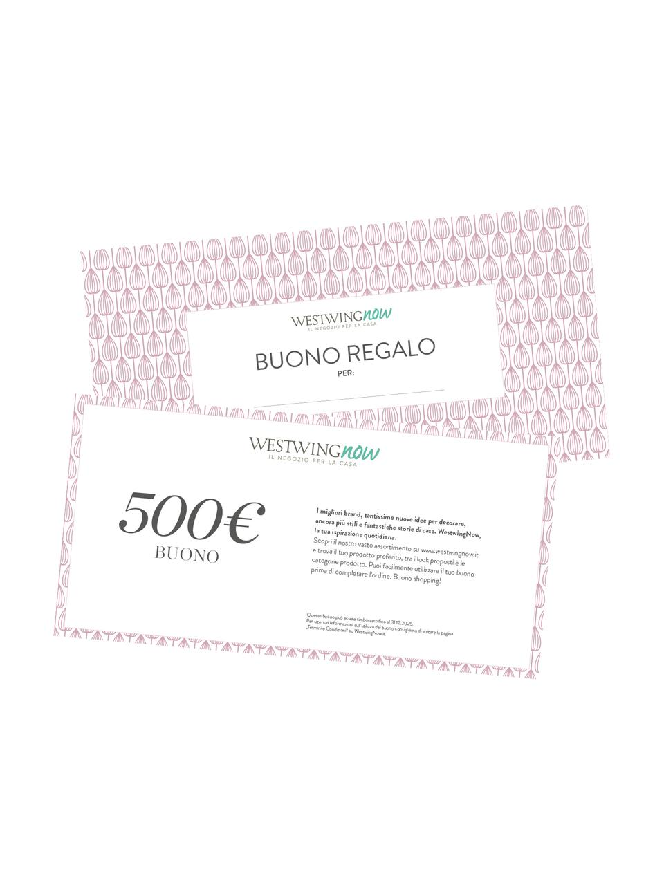 Buono regalo, Buono su carta fine, in una busta di alta qualità, Bianco, 500
