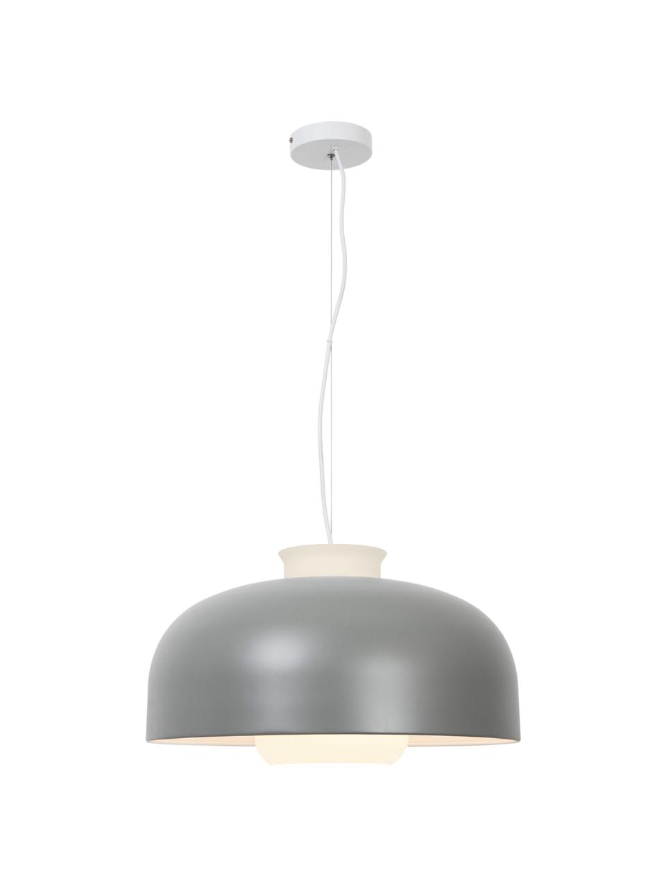 Retro-Pendelleuchte Miry, Lampenschirm: Metall, beschichtet, Baldachin: Metall, Grau, Ø 50 x H 28 cm