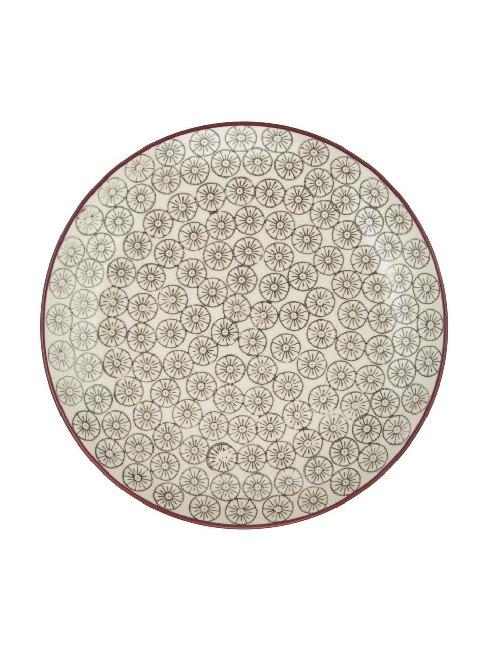 Komplet talerzy śniadaniowych Karine, 4 elem., Ceramika, Wielobarwny, Ø 20 cm