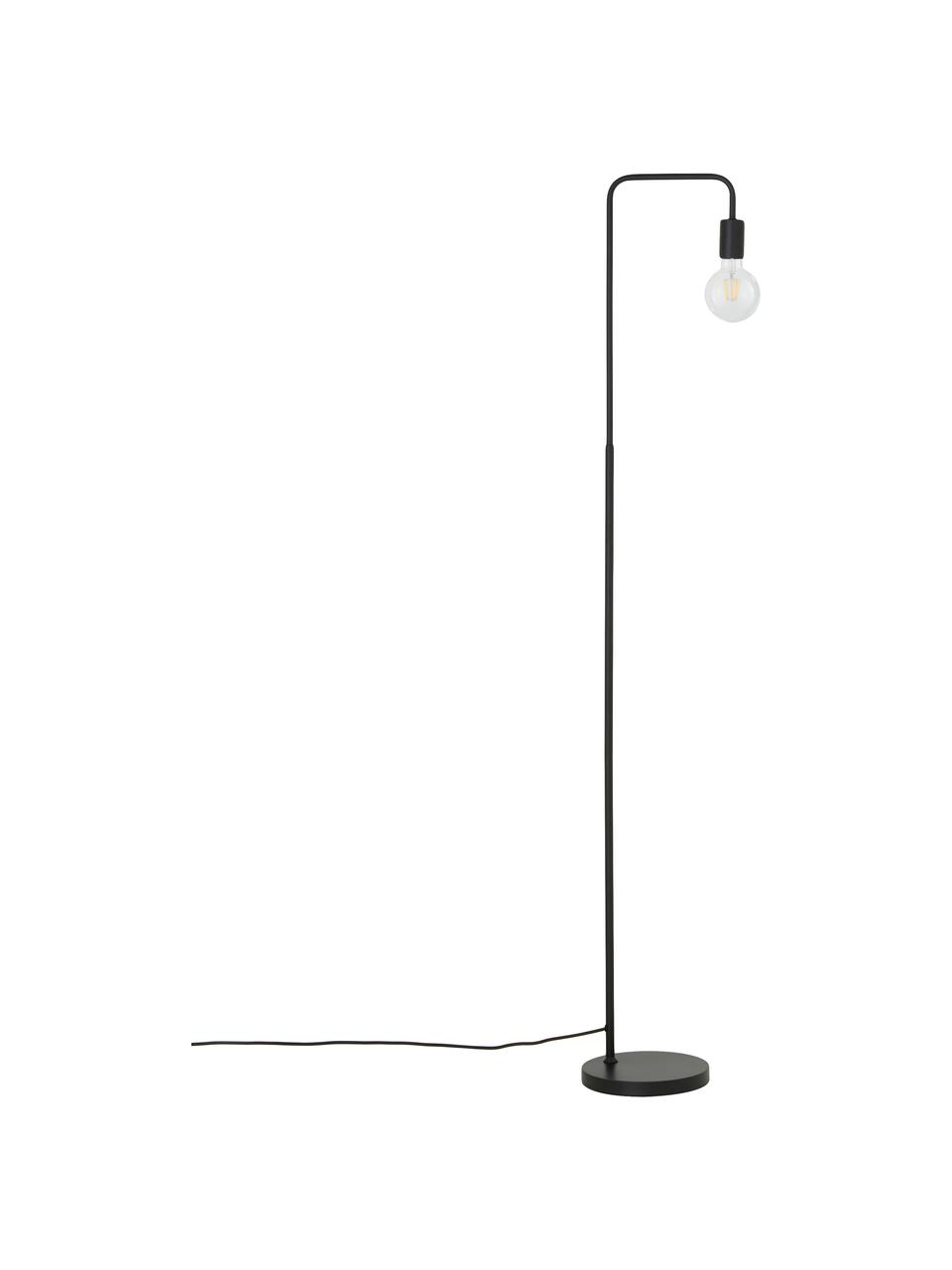 Lampada da lettura in metallo nero Flow, Nero, nero, Larg. 33 x Alt. 153 cm