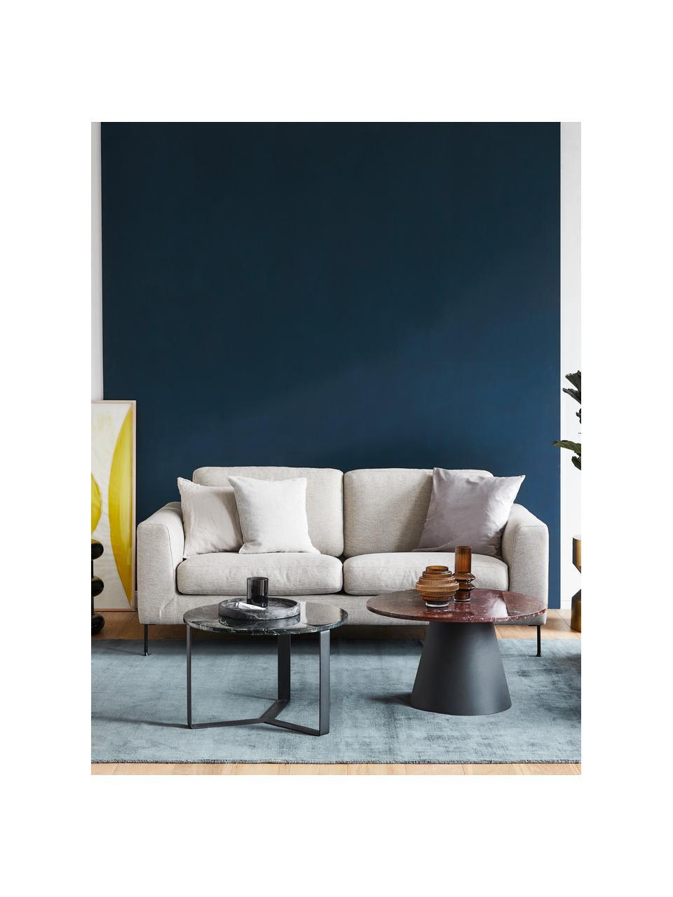 Sofa z metalowymi nogami Cucita (2-osobowa), Tapicerka: tkanina (poliester) Dzięk, Nogi: metal lakierowany, Beżowy, S 187 x G 94 cm
