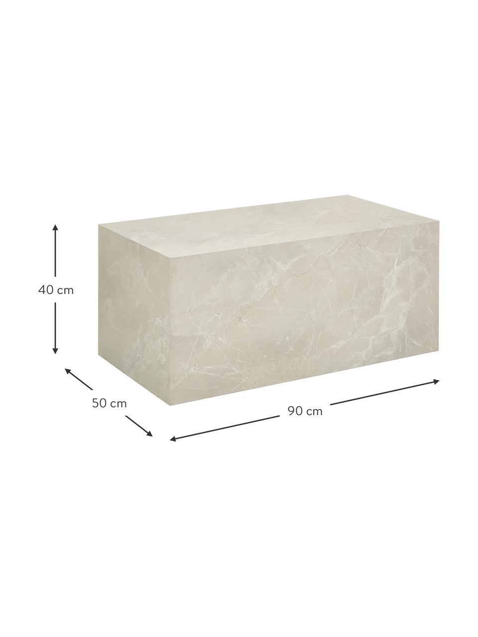 Mesa de centro Lesley, Tablero de fibras de densidad media(MDF) recubierto en melanina, Beige, An 90 x Al 40 cm