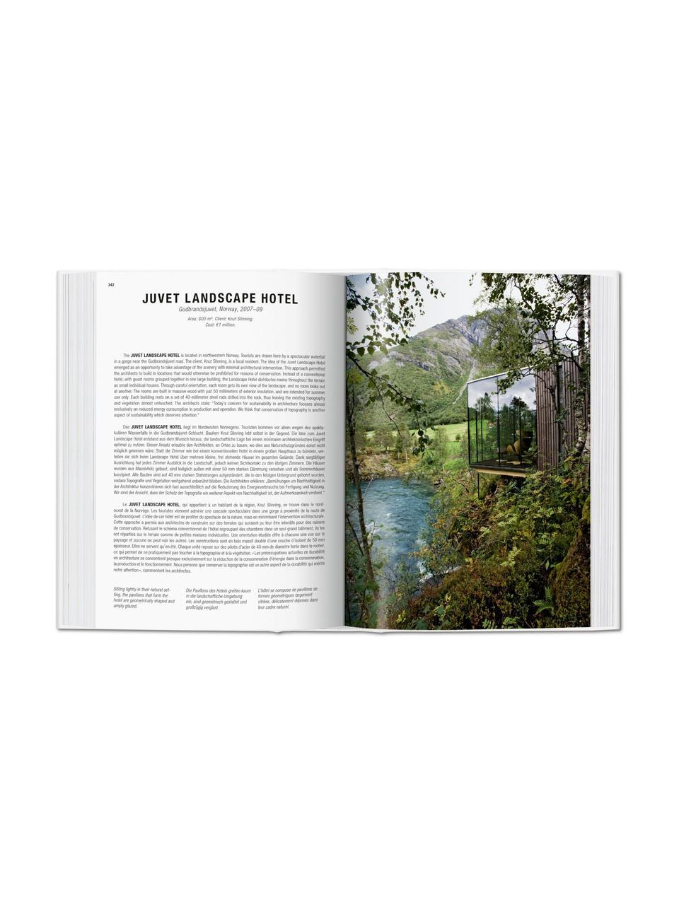 Bildband Green Architecture, Papier, Hardcover, Grün, Mehrfarbig, 14 x 20 cm