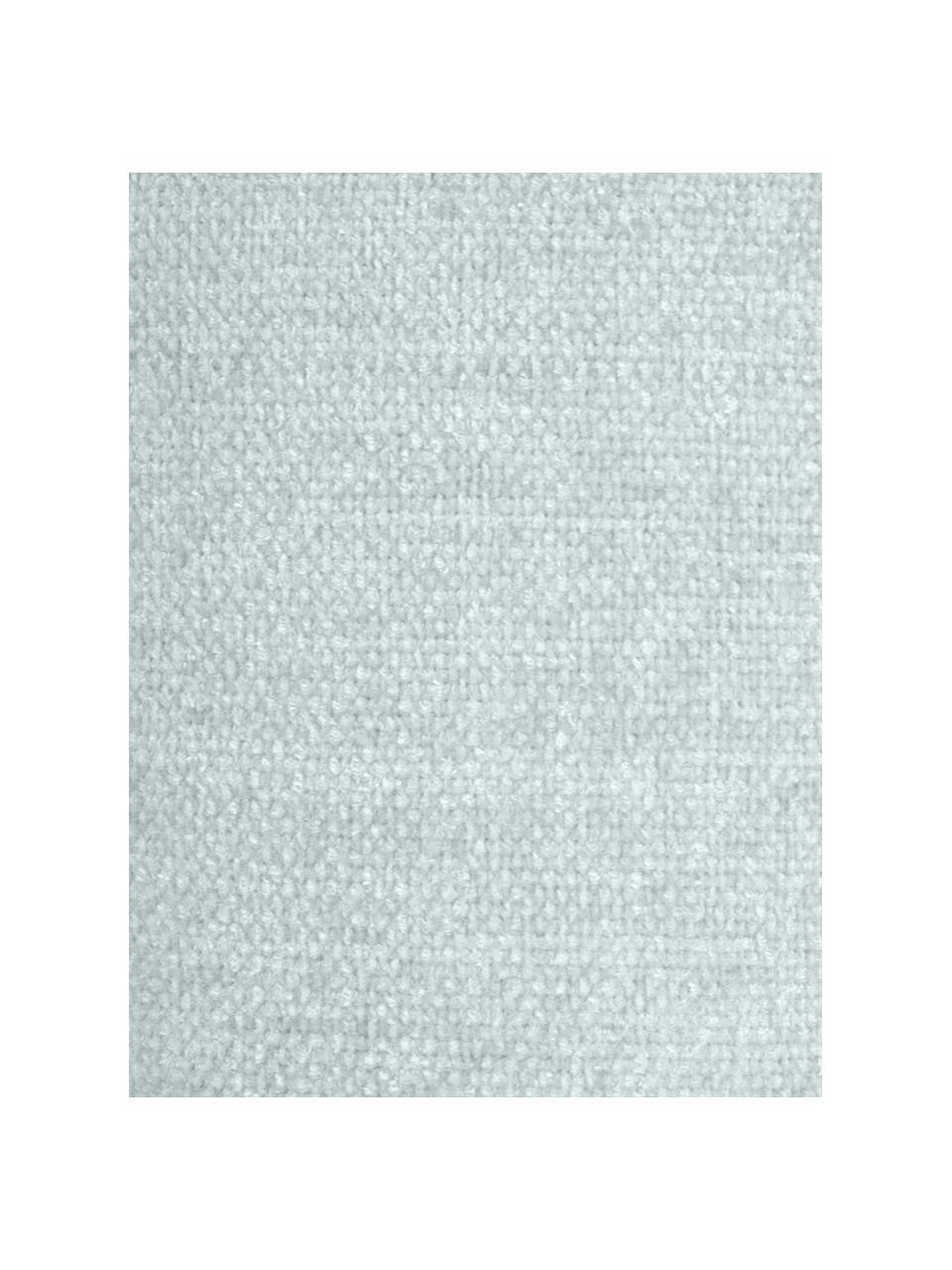 Zachte chenille plaid Chila met franjes, 100% polyester, Blauw, 125 x 150 cm