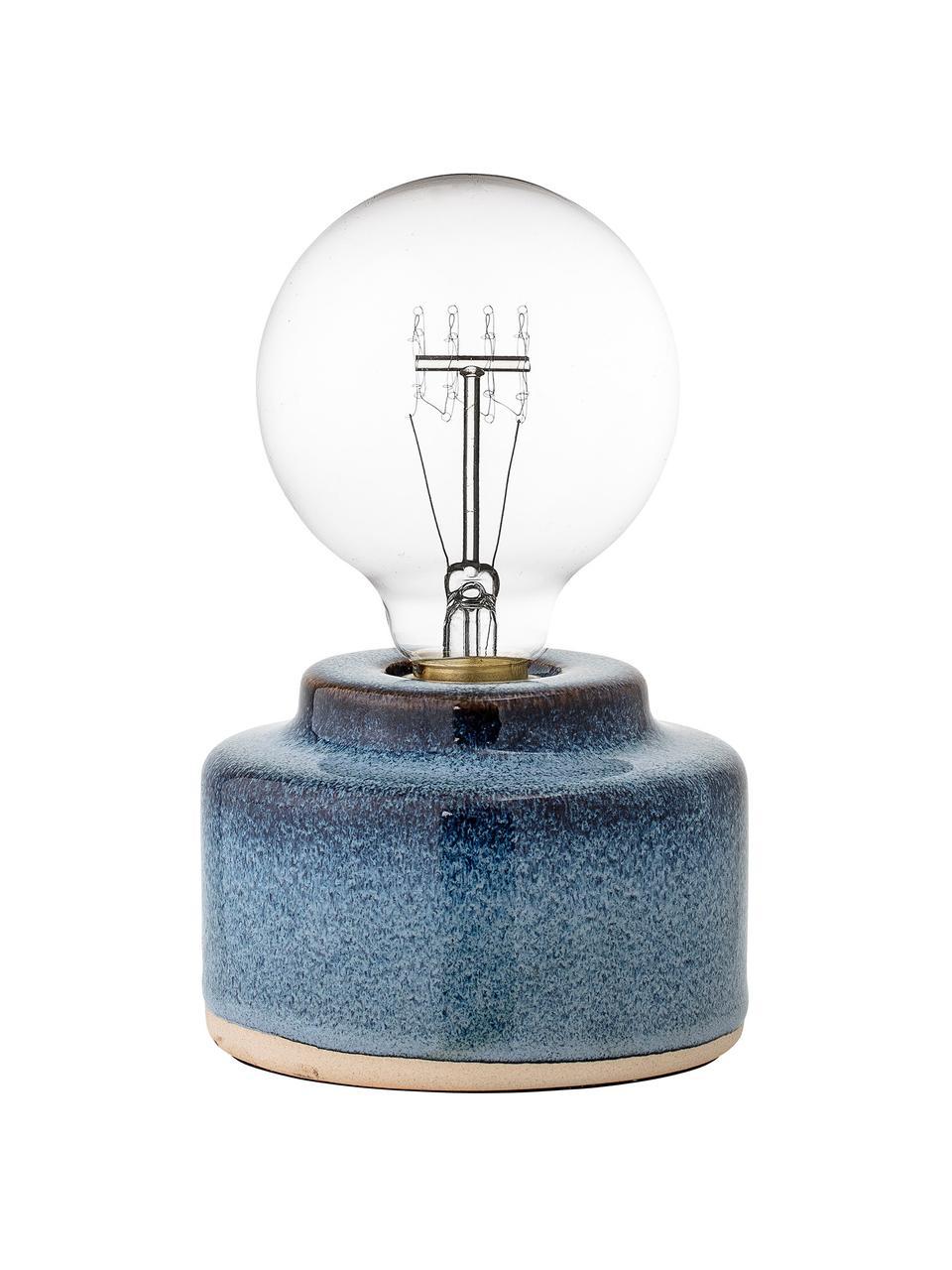 Lampada da tavolo in porellana blu Celain, Base della lampada: porcellana, Blu, Ø 12 x Alt. 9 cm