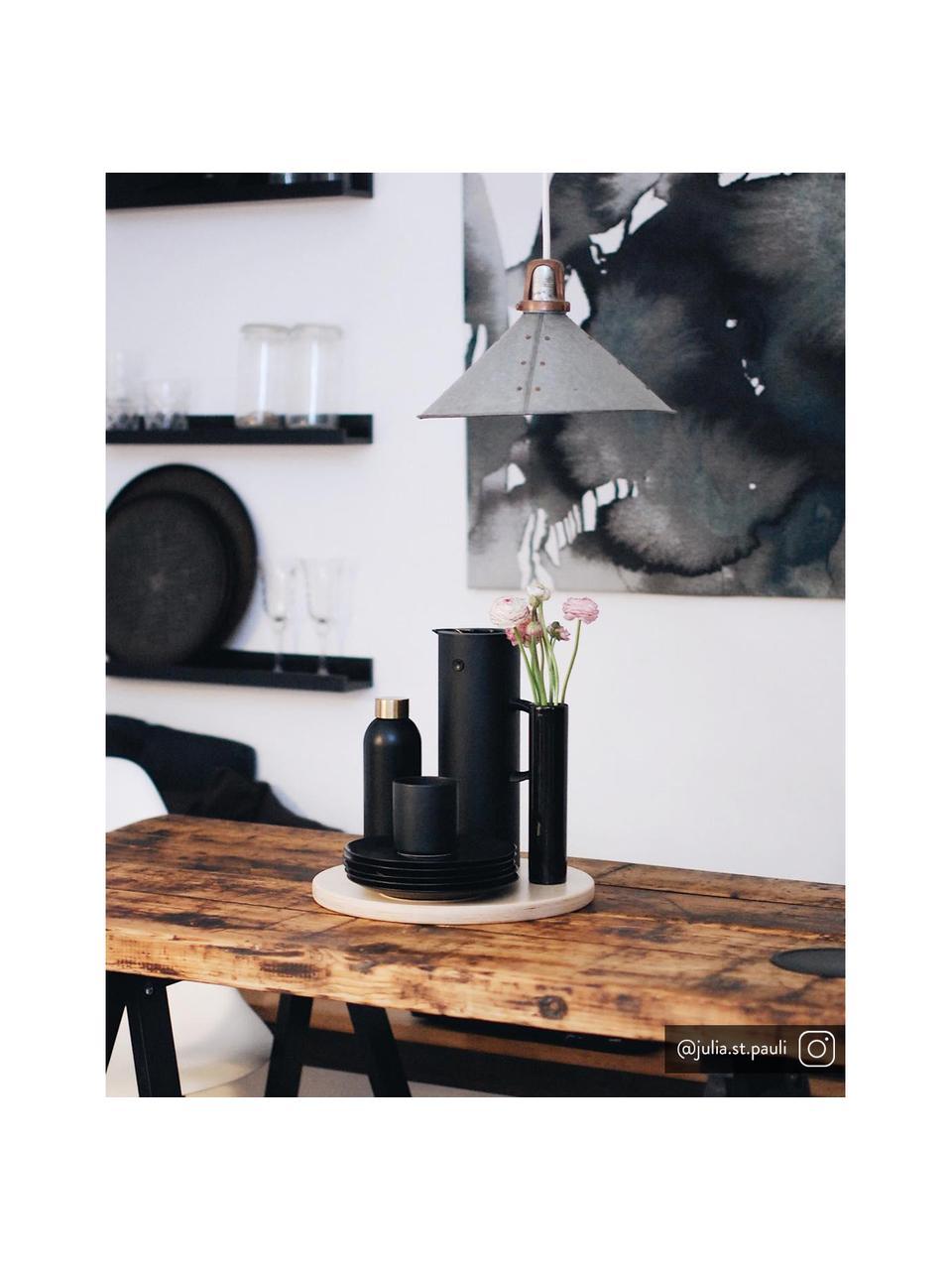 Brocca isotermica color nero lucido EM77, 1 L, Materiale sintetico ABS con inserto in vetro, Nero, 1 L