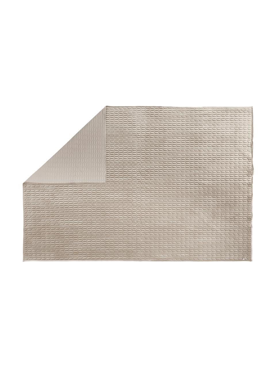 Tagesdecke Tily mit dekorativer Steppung, 100% Polyester, Beige, B 180 x L 260 cm (für Betten bis 140 x 200)