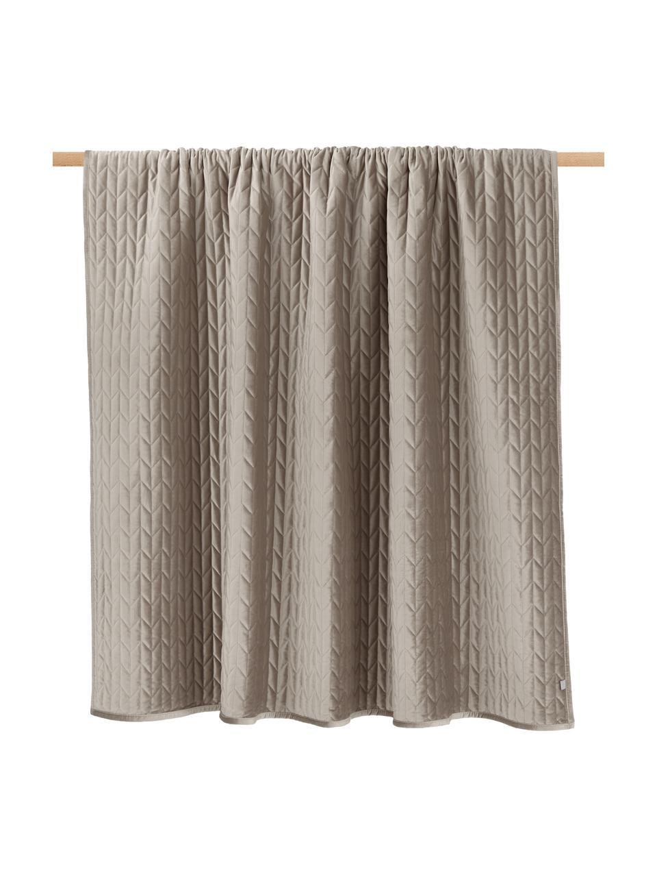 Copriletto con trapuntatura decorativa Tily, 100% poliestere, Beige, Larg. 180 x Lung. 260 cm (per letti da 140 x 200)