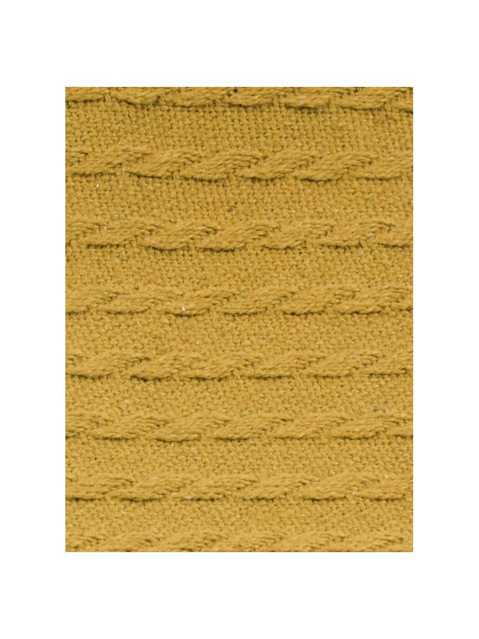 Pled Pietro, Bawełna, Żółty, S 125 x D 150 cm