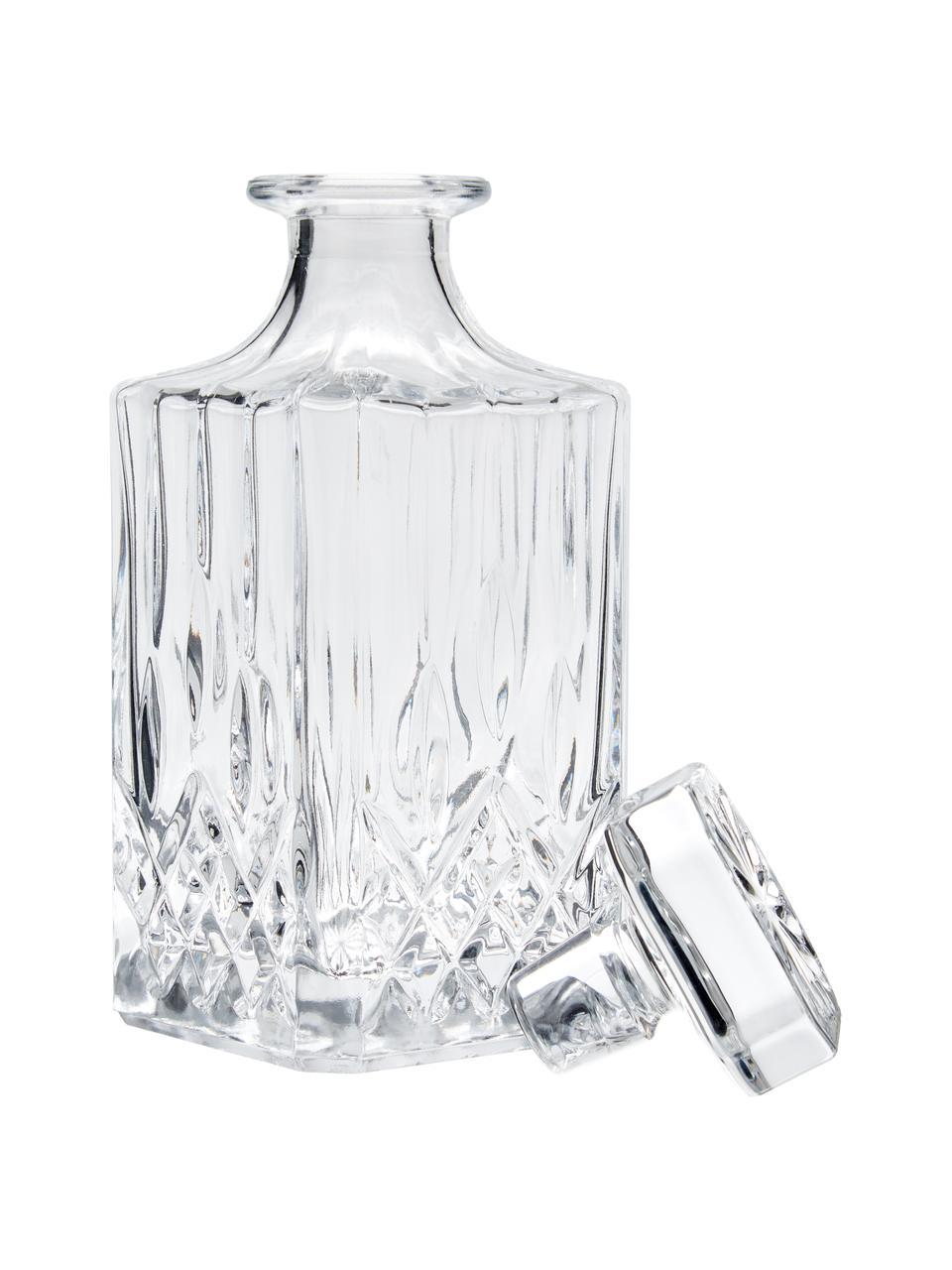 Set da whisky con rilievo in cristallo George 3 pz, Vetro, Trasparente, Set in varie misure