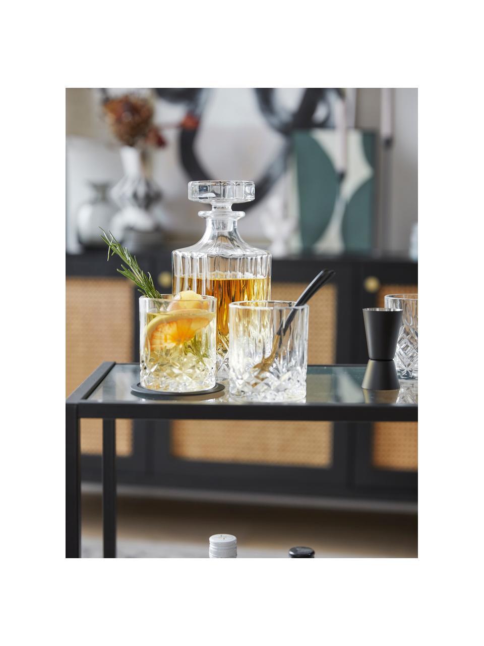 Whiskyset George met kristalreliëf, 3-delig, Glas, Transparant, Set met verschillende formaten
