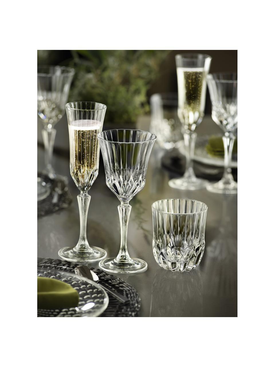 Kieliszek do szampana ze szkła kryształowego Adagio, 6 szt., Szkło kryształowe, Transparentny, Ø 8 x W 25 cm