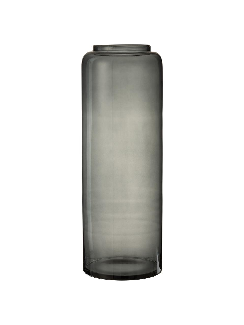 Vaso alto in vetro Right, Vetro, Grigio, Ø 25 x Alt. 70 cm