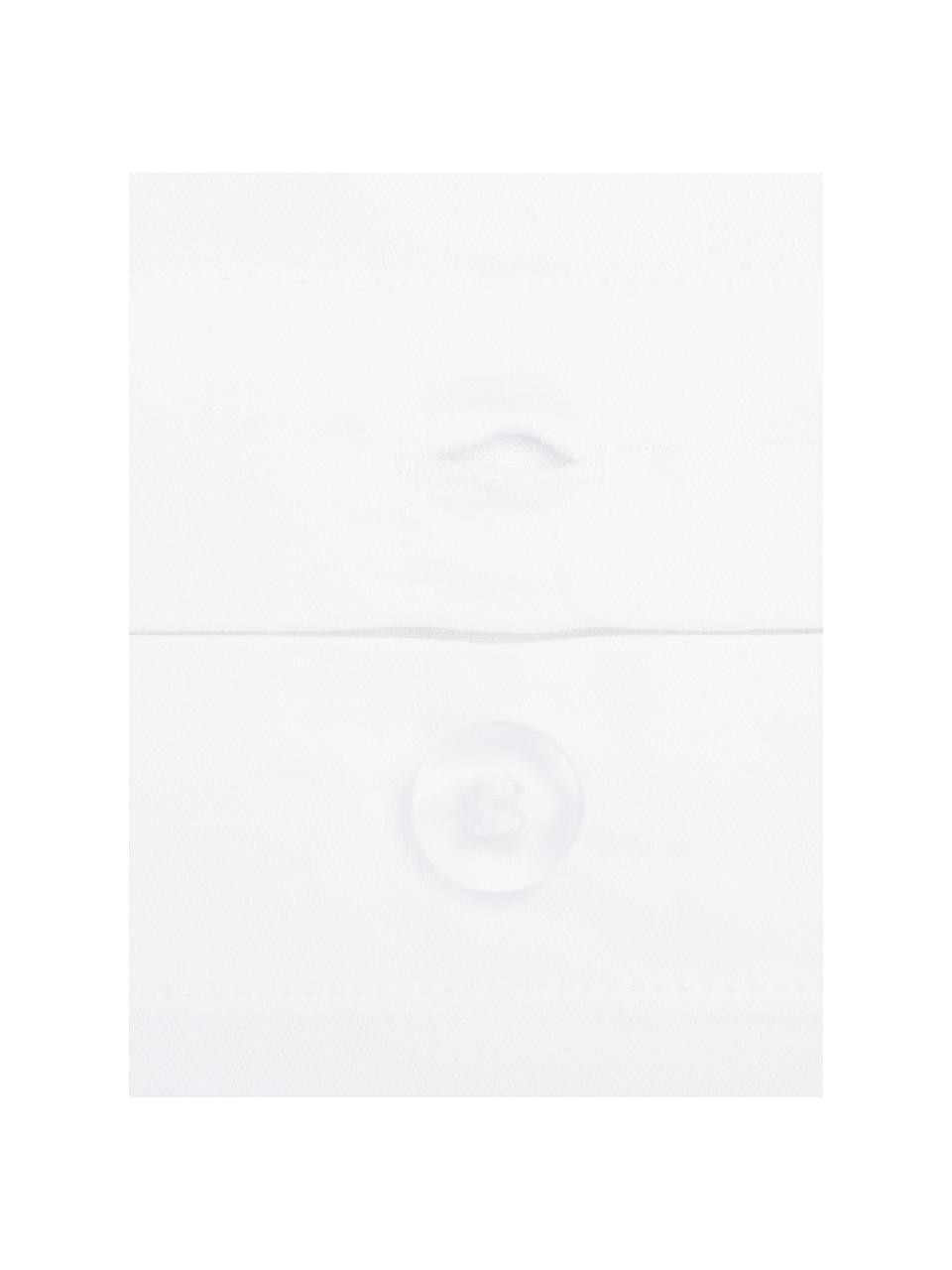 Parure copripiumino in raso di cotone bianco con orlo rialzato Premium, Bianco, 155 x 200 cm