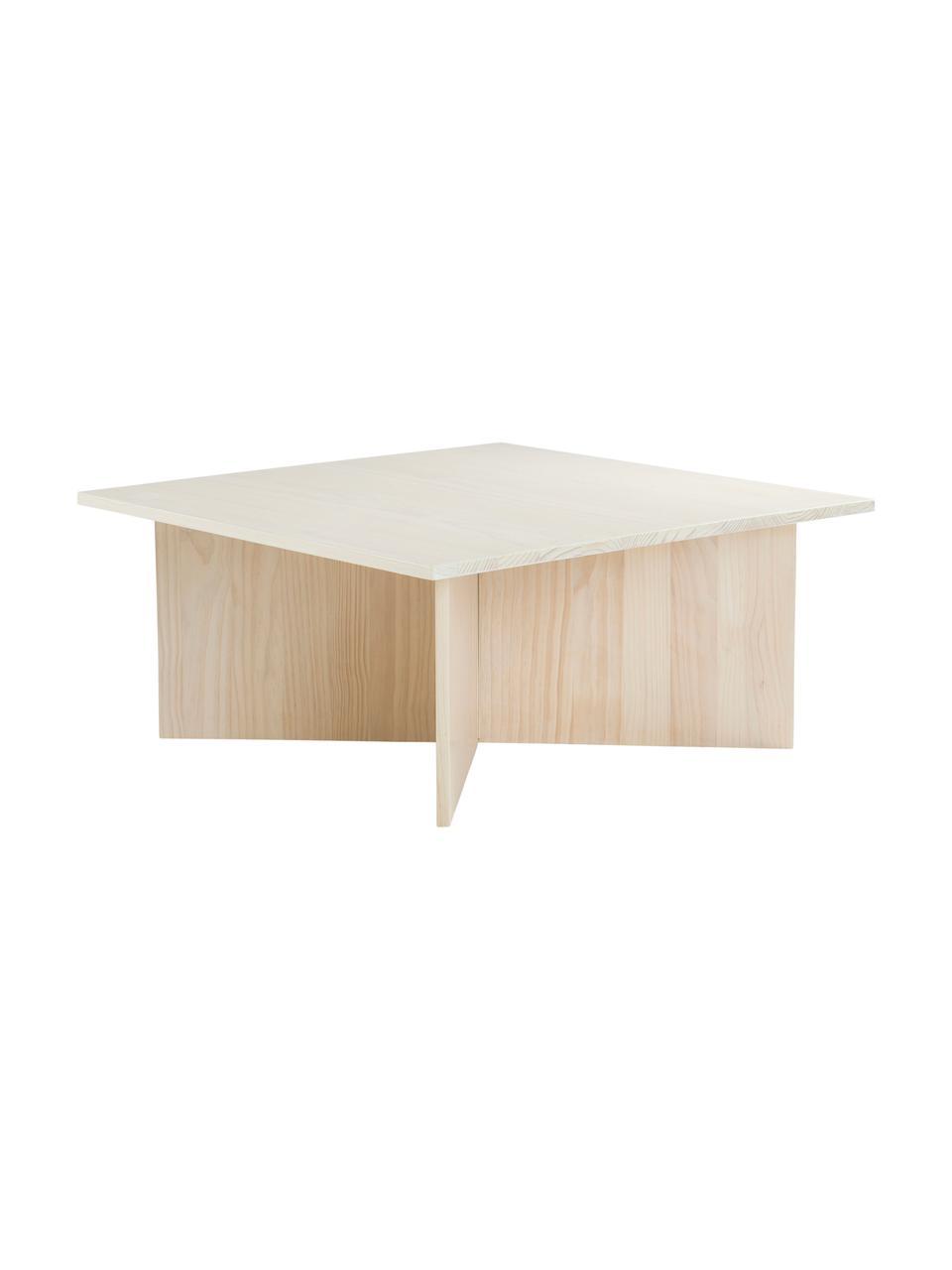 Stolik kawowy z litego drewna Grankulla, Drewno sosnowe, lite, Drewno sosnowe, S 90 x G 90 cm