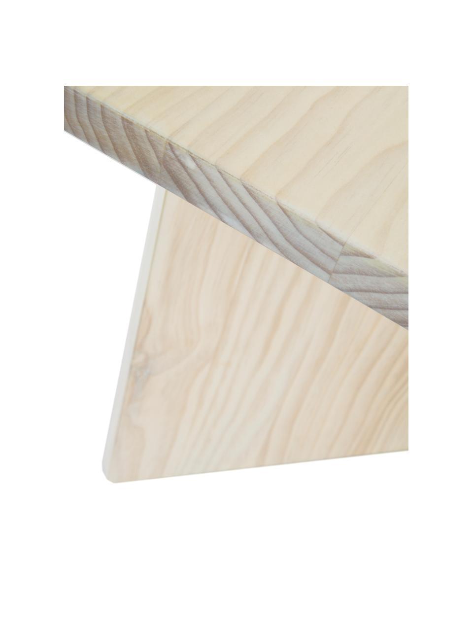 Massivholz-Couchtisch Grankulla, Kiefernholz, massiv, Kiefernholz, B 90 x T 90 cm