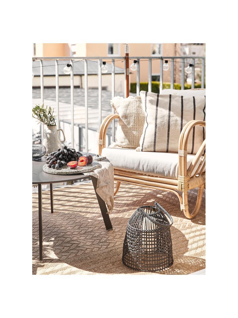 In- &  outdoor vloerkleed Limonero in juten look, 100% polypropyleen, Beige, bruin, B 160 x L 230 cm (maat M)