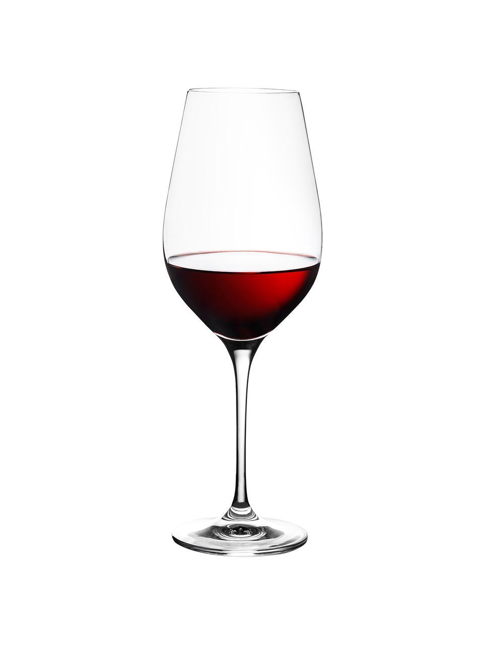 Rode wijnglazen Harmony, 6 stuks, Edele glans - het kristalglas breekt het licht en dit creëert een sprankelend effect, waardoor elk wijnglas als een bijzonder moment kan worden ervaren., Transparant, Ø 8 x H 24 cm