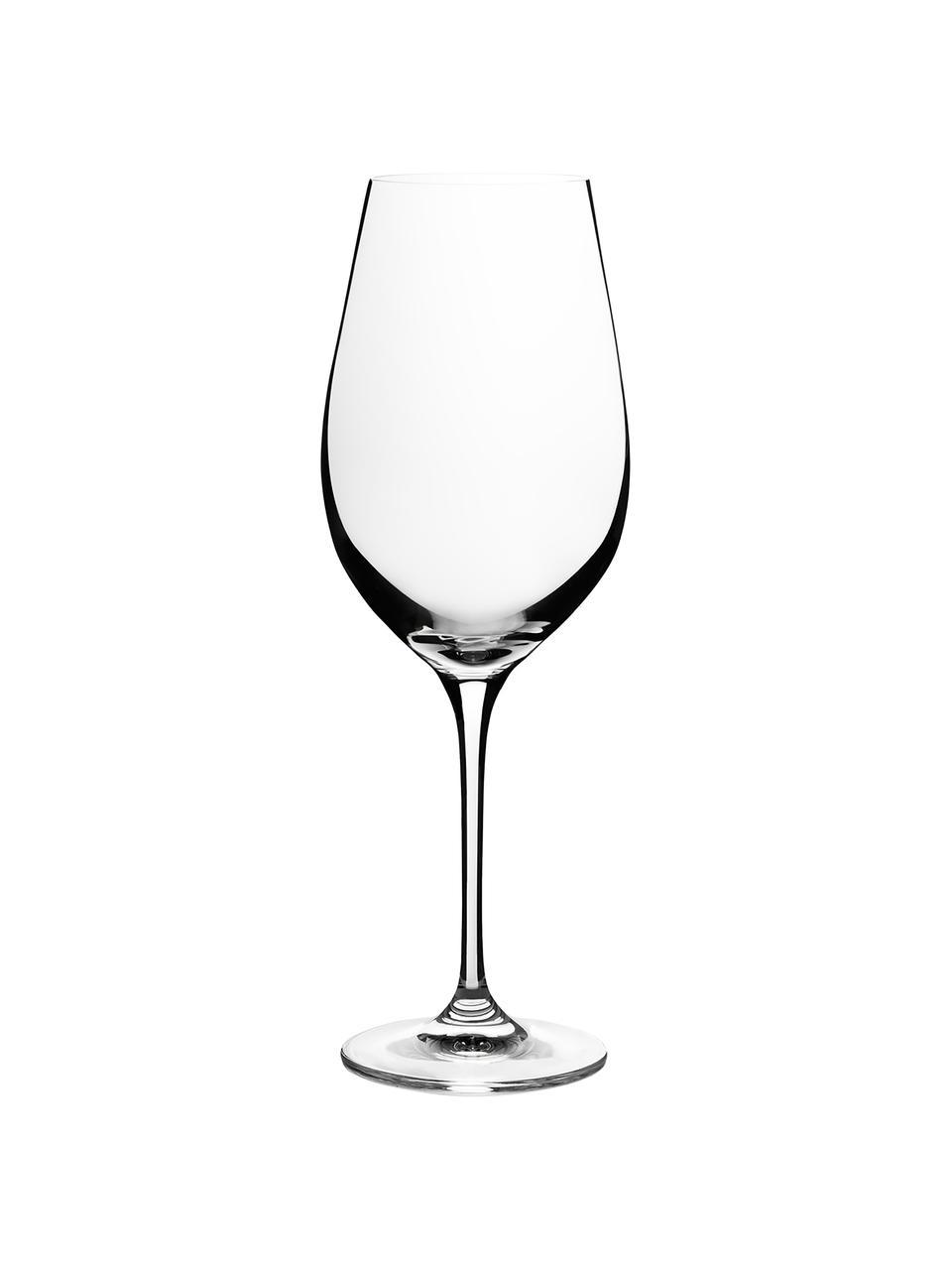 Kristall-Rotweingläser Harmony, 6 Stück, Edelster Glanz – das Kristallglas bricht einfallendes Licht besonders stark. So entsteht ein märchenhaftes Funkeln, das jede Weinverkostung zu einem ganz besonderen Erlebnis macht., Transparent, Ø 8 x H 24 cm