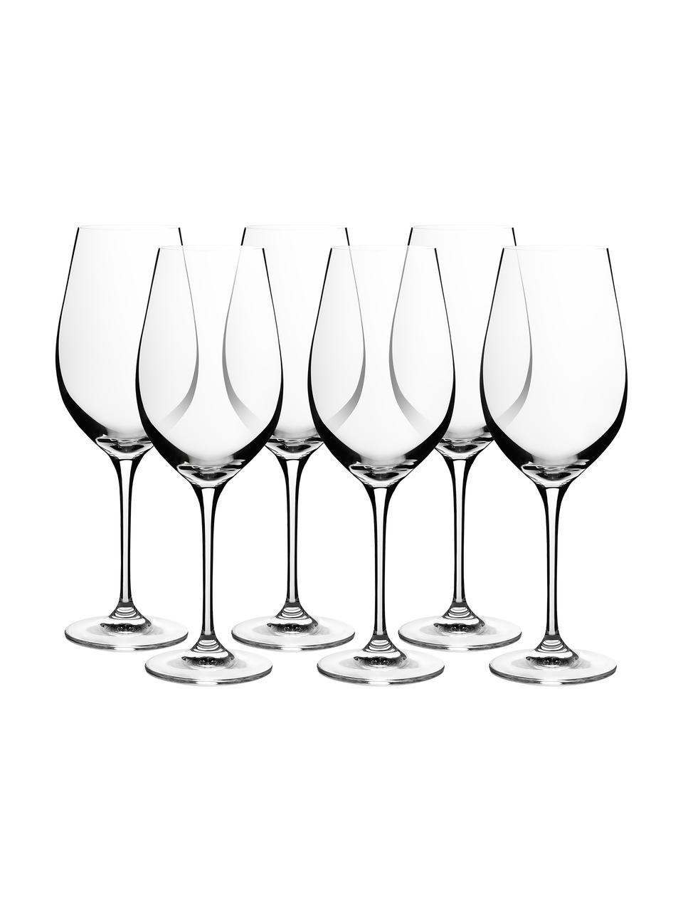 Kristallen rode wijnglazen Harmony, 6 stuks, Edele glans - het kristalglas breekt het licht en dit creëert een sprankelend effect, waardoor elk wijnglas als een bijzonder moment kan worden ervaren., Transparant, Ø 8 x H 24 cm
