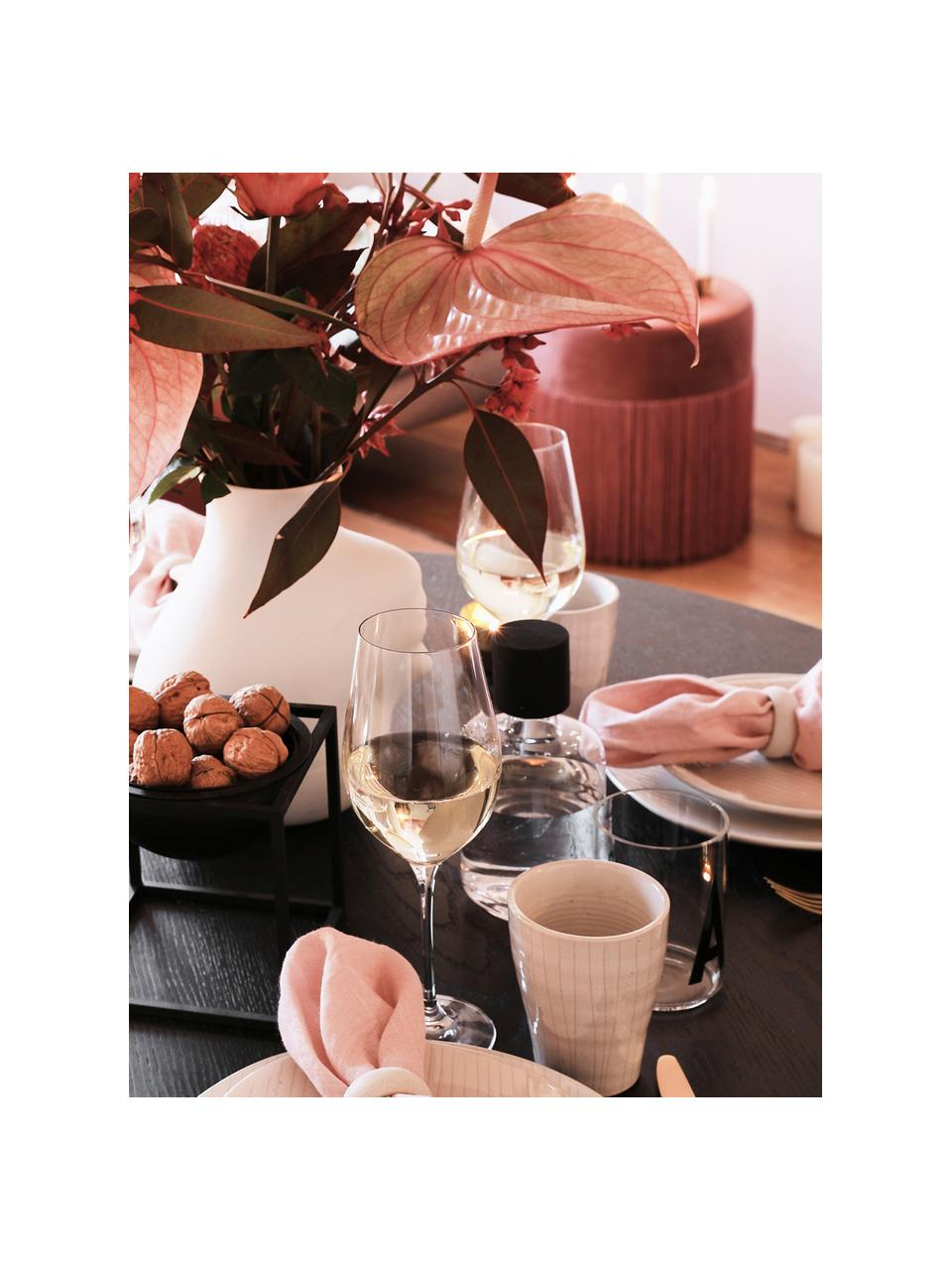 Copas de vino tinto de cristal Harmony, 6uds., Transparente, Ø 8 x Al 24 cm
