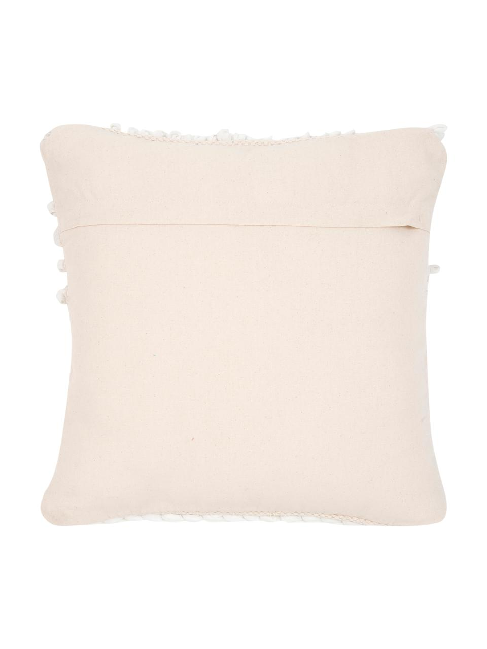 Poszewka na poduszkę Anoki, 80% bawełna, 20% poliester, Ecru, biały, S 45 x D 45 cm